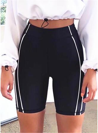 gestreift Über dem Knie Lässige Kleidung Sexy Dünn Sportlich Kurze Hose