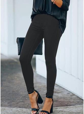 Einfarbig Übergröße Lange Elegant Sexy Hosen