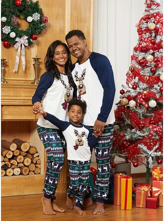 Hirsch Drucken Passende Familie Christmas Pajamas