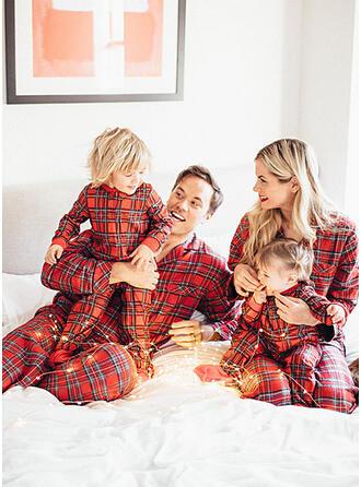 Karierte Passende Familie Pyjama