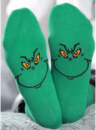 Druck/Tierdruck/Bunt Komfortabel/Weihnachten/Crew Socks Socken