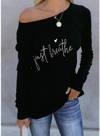Print Figure Heart Round Neck Long Sleeves Casual T-shirts