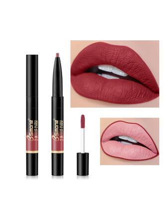 Matte Velvet Waterproof Double head Lipsticks Lip Liner With Box