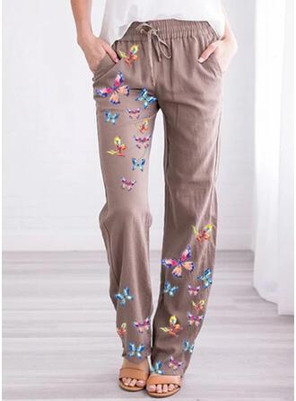Jacquard Taschen Übergröße Lange Lässige Kleidung Druck Hosen