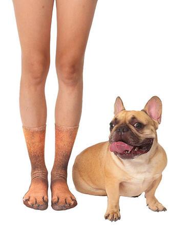 Animal Print Breathable/Crew Socks/Unisex Socks