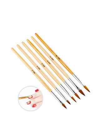 6 PCS Simple Classic Nail Art Brush