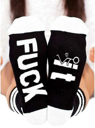 Letter/Print Breathable/Crew Socks/Unisex Socks