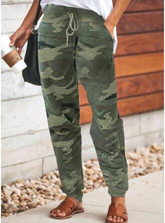 Übergröße Tarnen Kordelzug Lange Lässige Kleidung Sportlich Hosen