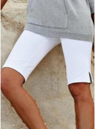 Einfarbig Übergröße Knielang Lässige Kleidung Kurze Hose