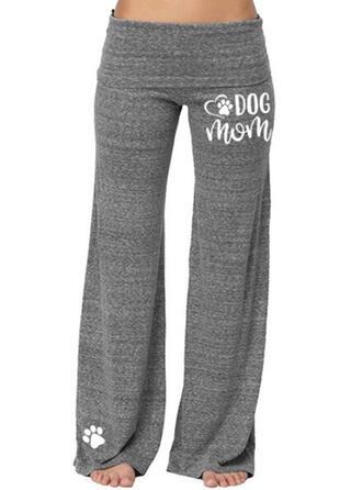 Einfarbig Druck Übergröße Lässige Kleidung Sportlich Yoga Lounge Pants