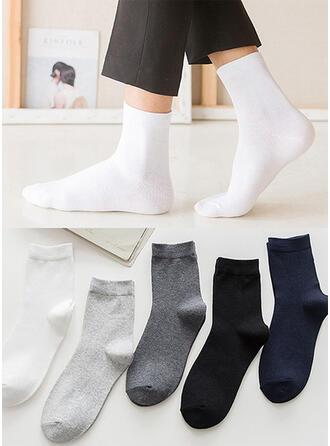 Einfarbig Atmungsaktiv/Komfortabel/Crew Socks Socken (Satz von 5 Paaren)