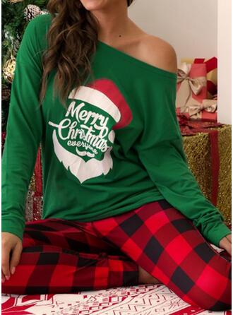 Plaid Print Plus Size Christmas Casual Suits