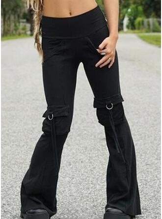 Einfarbig Taschen Übergröße Lässige Kleidung Sexy Lounge Pants