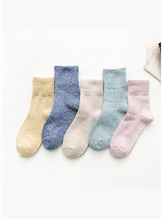 Bunt/Häkeln Atmungsaktiv/Komfortabel/Crew Socks Socken (Satz von 5 Paaren)