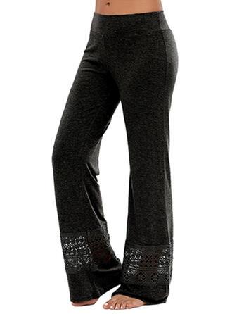 Einfarbig Übergröße Lässige Kleidung Sportlich Yoga Lounge Pants