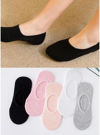 Einfarbig Atmungsaktiv/No Show Socks Socken (Satz von 5 Paaren)