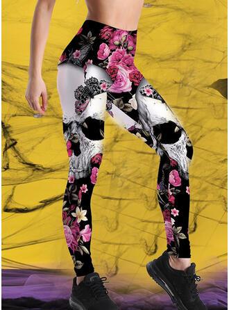 Druck Halloween Lange Lässige Kleidung Sportlich Yoga Hosen Gamaschen
