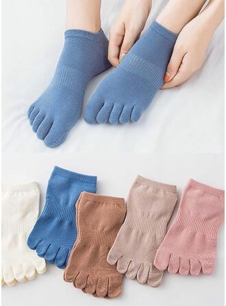 Einfarbig/Bunt Atmungsaktiv/Komfortabel/Toe/Ankle Socks Socken (Satz von 5 Paaren)