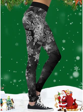 Print Christmas Sporty Yoga Leggings