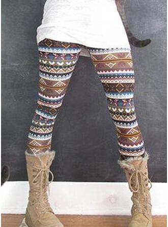 Shirred Plus Size Christmas Long Casual Yoga Leggings
