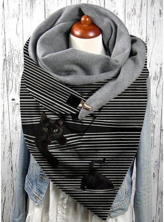 Striped/Animal attractive/fashion/Black Cat Scarf