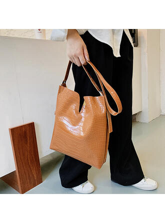 Crocodile Embossed Tote Bags/Bag Sets