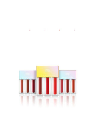 3 PCS Matte Velvet Lip Gloss Lip Sets With Box