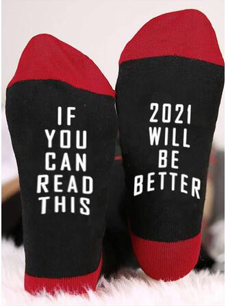 Letter/Print Comfortable/Crew Socks/2020/Unisex Socks