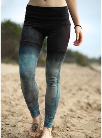 Übergröße Tie Dye Lässige Kleidung Sportlich Yoga Gamaschen