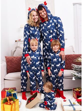 Reindeer Print Family Matching Christmas Pajamas