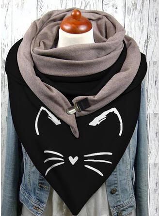 Animal/Stitching/Print Animal Designed/Triangle Scarf